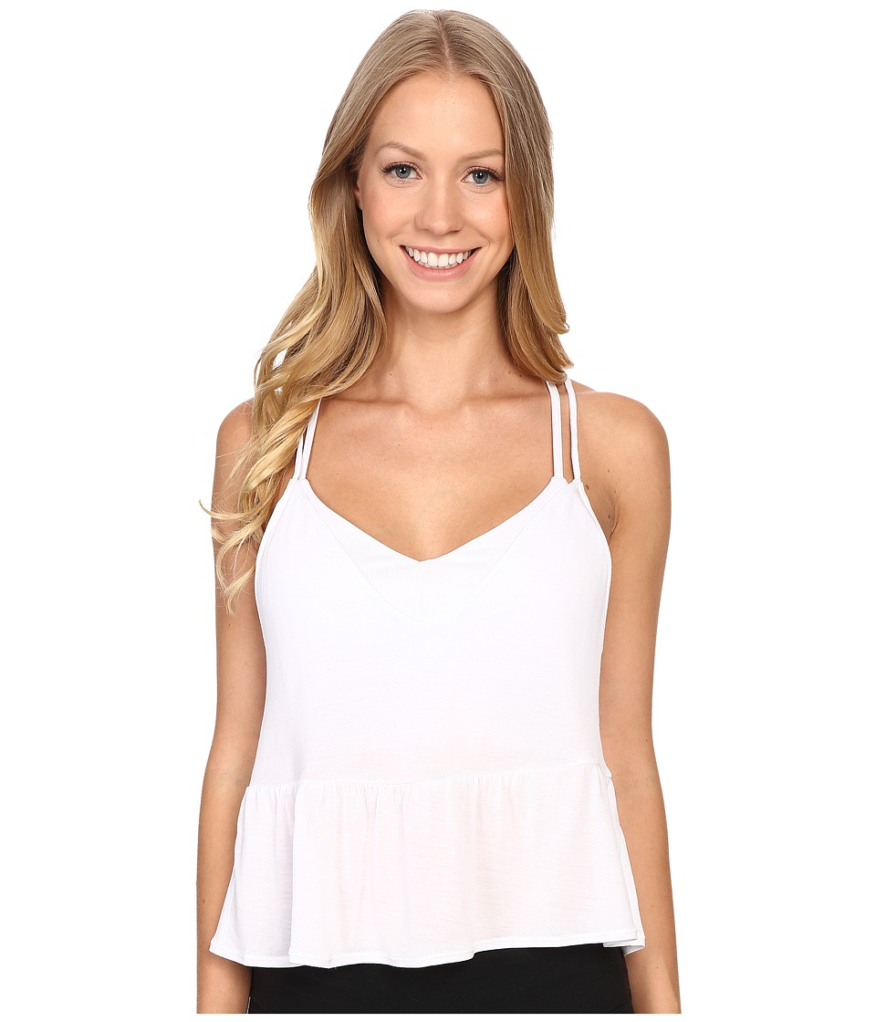 ALO Flutter Tank Top White Womens Sleeveless