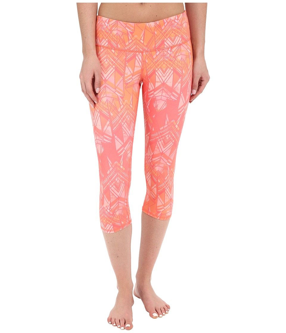 ALO Airbrushed Capri Guava Indio Womens Workout