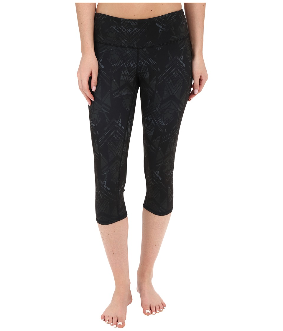 ALO Airbrushed Capri Black Indio Womens Workout