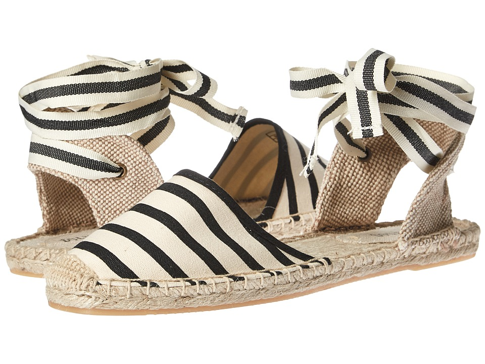 Soludos Classic Sandal (Natural Black) Sandals