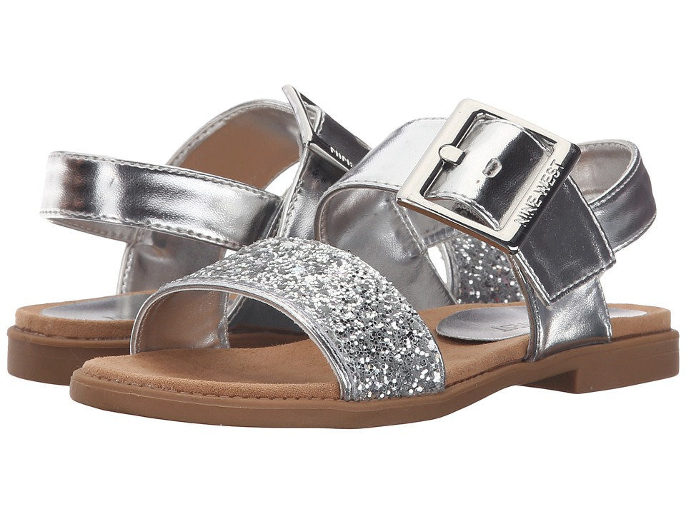 Nine West Kids Celeste Little Kid/Big Kid Silver Girls Shoes
