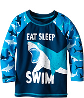 Hatley Kids - Great White Sharks Rashguard (Toddler/Little Kids/Big Kids)