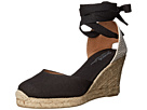 Soludos - Tall Wedge Linen (Black)
