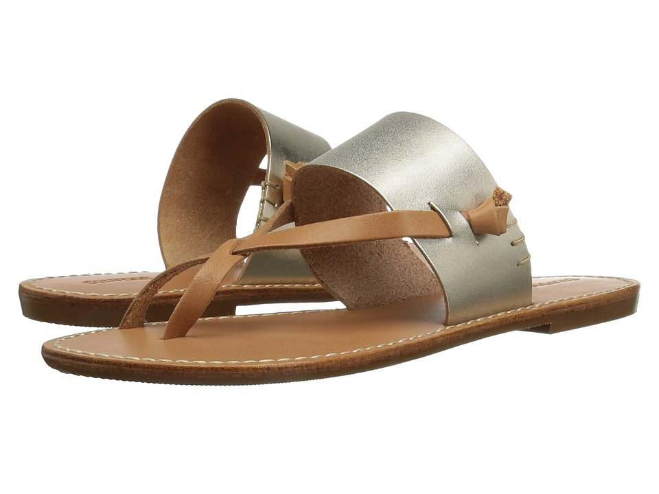 Soludos - Slotted Thong Sandal (Metallic Platinum) Women's Sandals