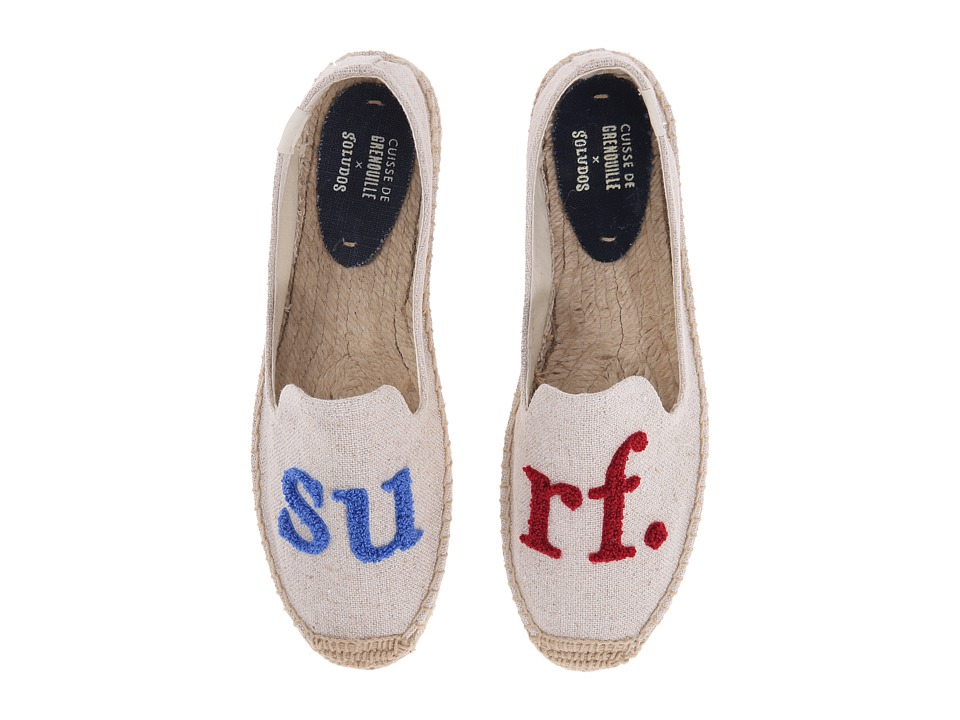 Soludos Cuisse De Grenouille for Soludos Collaboration Surf/Natural Red/Blue Womens Shoes
