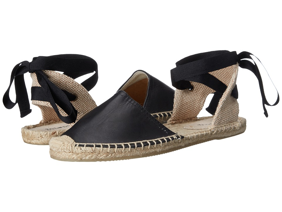 Soludos Classic Sandal Leather Black Womens Sandals