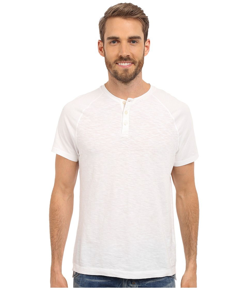 Kenneth Cole Sportswear Dressy Slub Henley White Mens Short Sleeve Knit