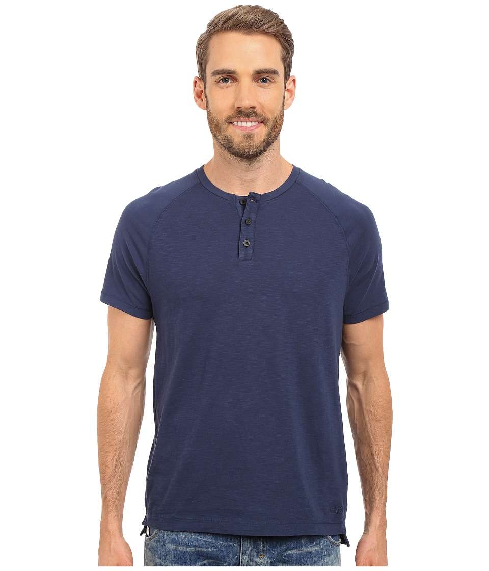 Kenneth Cole Sportswear Dressy Slub Henley Laguna Mens Short Sleeve Knit