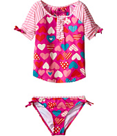 Hatley Kids - Crazy Hearts Rashguard Tankini Sets (Toddler/Little Kids/Big Kids)