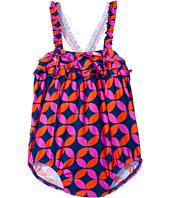 Hatley Kids - Graphic Lifesavers Ruffle One-Piece Swimsuit (Infant)