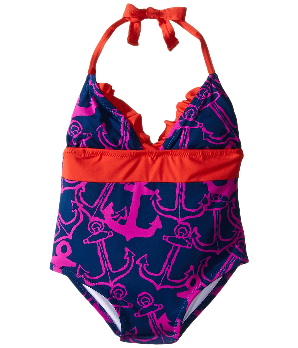 Hatley Kids Anchors One Piece Swimsuit Toddler/Little Kids/Big Kids Purple Girls Swimsuits One Piece
