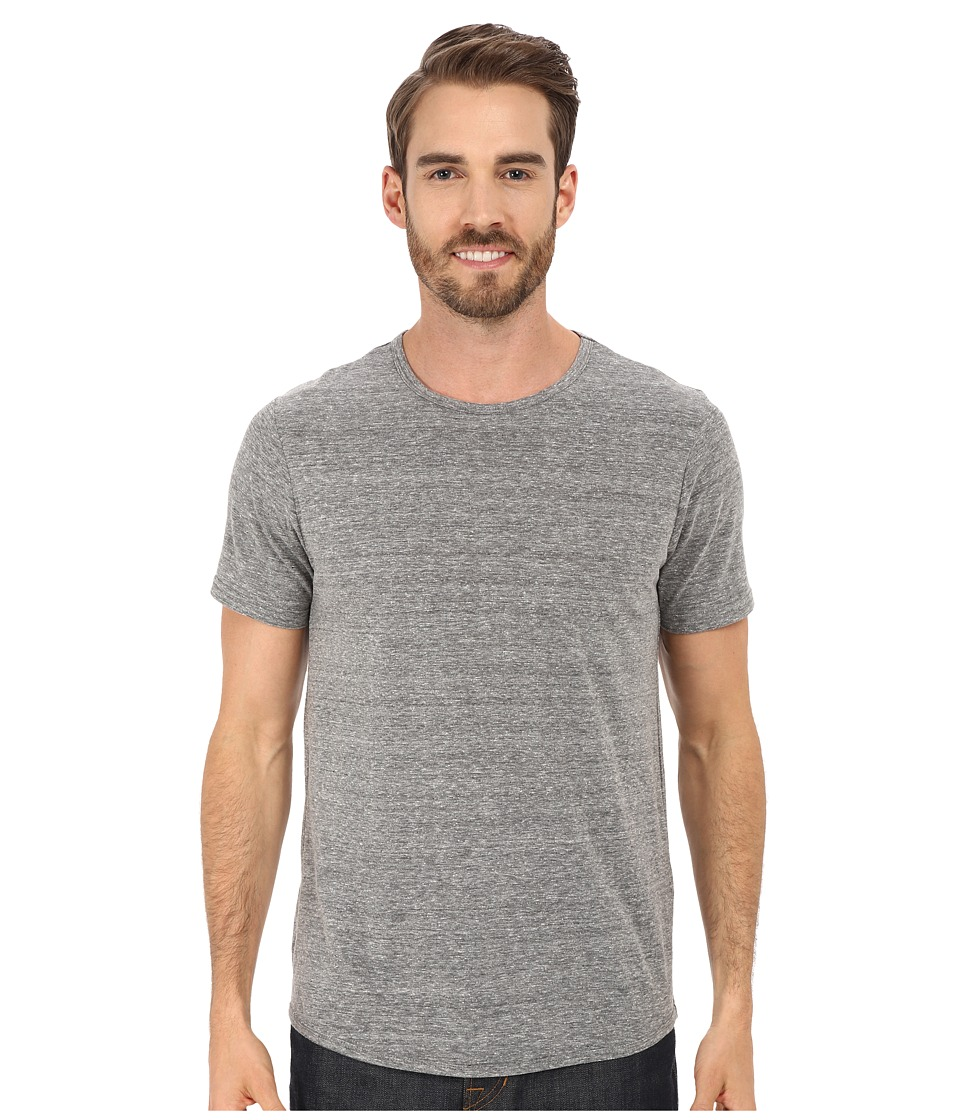 Kenneth Cole Sportswear Nep Textured Crew Heather Grey Mens Short Sleeve Pullover