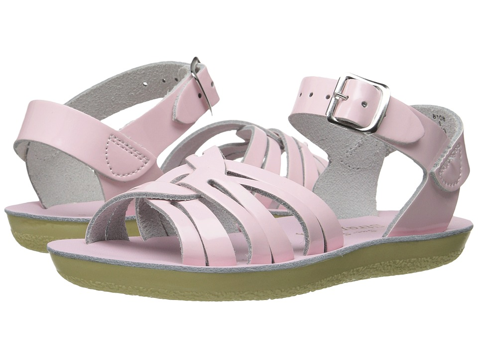 Salt Water Sandals Sun-San Strappy (Toddler/Little Kid) (Shiney Pink 1) Girls Shoes