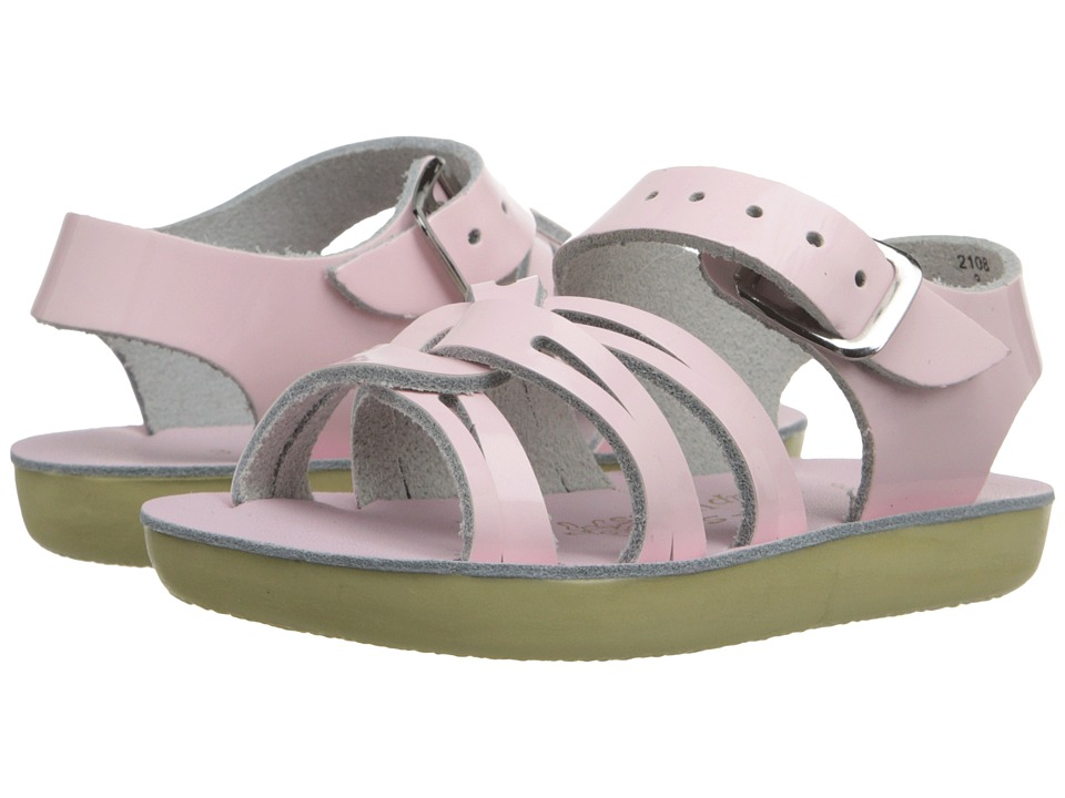 Salt Water Sandals Sun-San Strap Wees (Infant/Toddler) (Shiney Pink) Girls Shoes