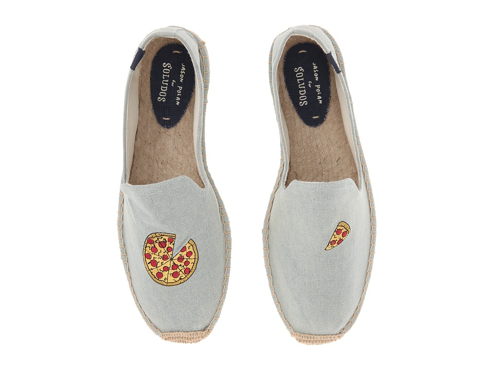 Soludos Jason Polan X S Oludos Collaboration Pizza Chambray Mens Shoes