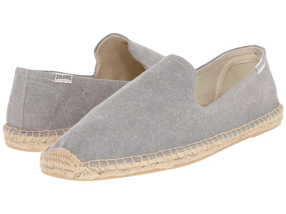 Soludos Smoking Slipper (Washed Canvas Light Gray) Men