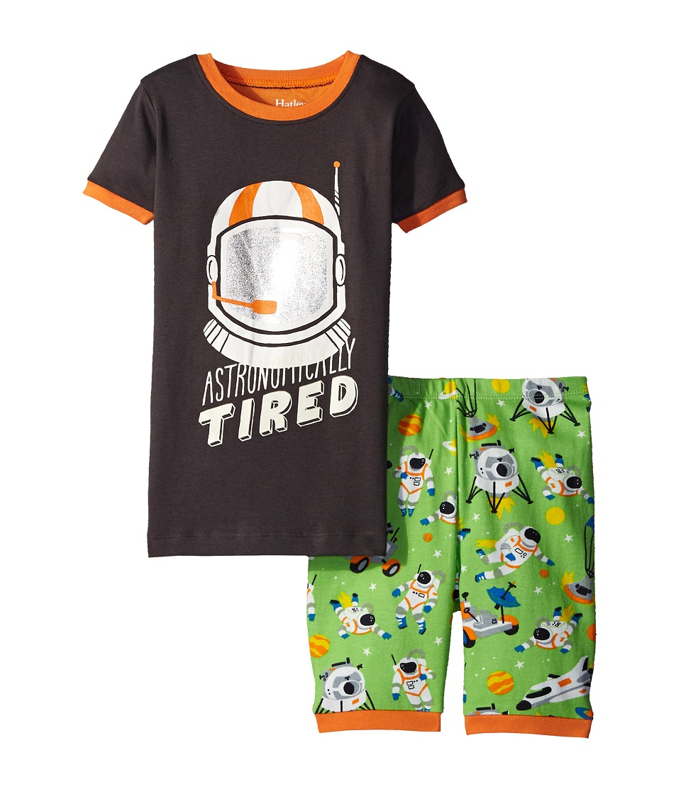Hatley Kids Astronauts Short PJ Set Toddler/Little Kids/Big Kids Green Boys Pajama Sets