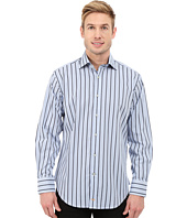 Thomas Dean & Co. - Long Sleeve Woven Tiny Check w/ Satin Stripe