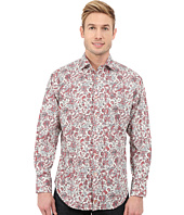 Thomas Dean & Co. - Long Sleeve Woven Paisley/Floral Print