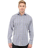 Thomas Dean & Co. - Long Sleeve Woven Poplin Check