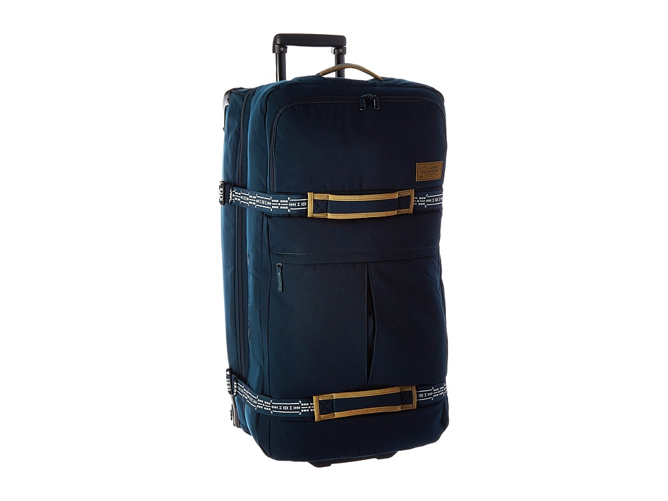 Dakine Split Roller Deluxe Luggage 100L Navy Canvas Weekender/Overnight Luggage