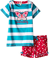 Hatley Kids - Electric Butterfly Button Tee & Shorts Set (Toddler/Little Kids/Big Kids)