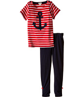 Hatley Kids - Anchors Button Tee & Leggings Set (Toddler/Little Kids/Big Kids)