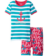 Hatley Kids - Painted Anchors Short PJ Set (Toddler/Little Kids/Big Kids)