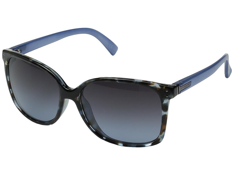 VonZipper Castaway Navy Tort Satin/Brown Sport Sunglasses