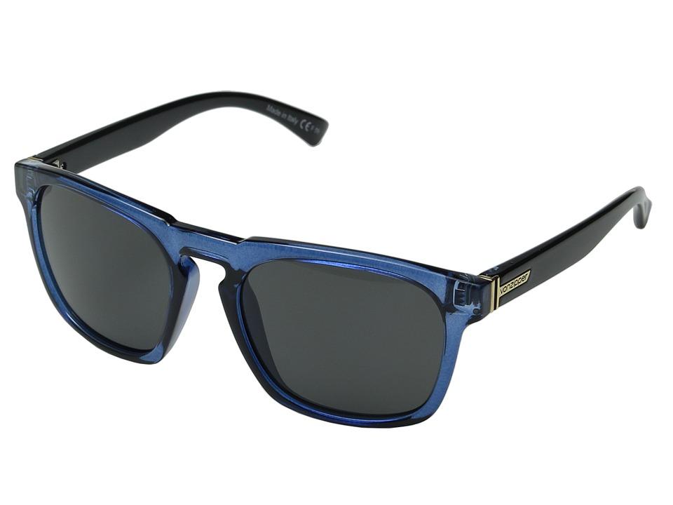 VonZipper Banner Slate Black Crystal/Grey Sport Sunglasses