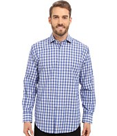 Thomas Dean & Co. - Long Sleeve Woven Textured Check