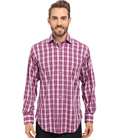 Thomas Dean & Co. - Long Sleeve Woven Poplin Plaid