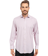 Thomas Dean & Co. - Long Sleeve Woven Jacquard Check
