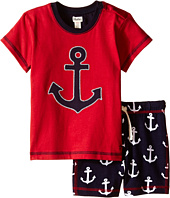 Hatley Kids - Retro Nautical Tee & Drawcord Shorts Set (Infant)