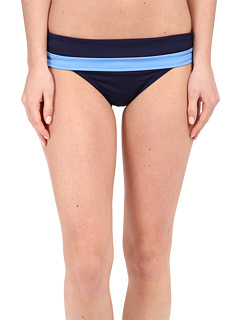Image of Tommy Bahama - Deck Hipster w/ Wide Band (Blue Zaffiro/Mare) Women's Swimwear