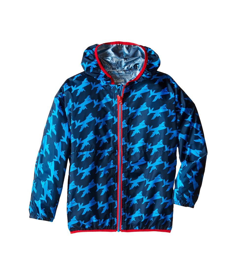 Hatley Kids Fighter Planes Wind Breakers Toddler/Little Kids/Big Kids Blue Boys Coat