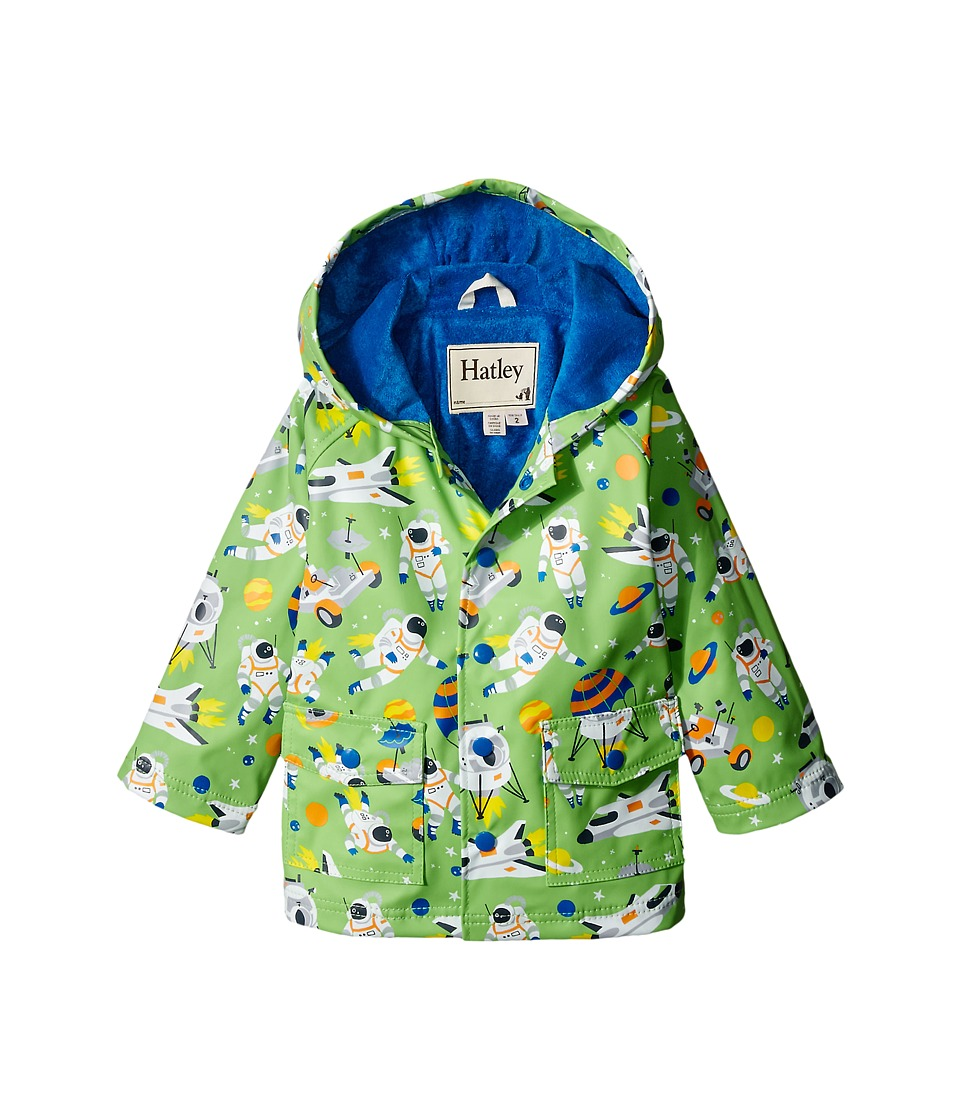 Hatley Kids Astronauts Raincoat Toddler/Little Kids/Big Kids Green Boys Coat