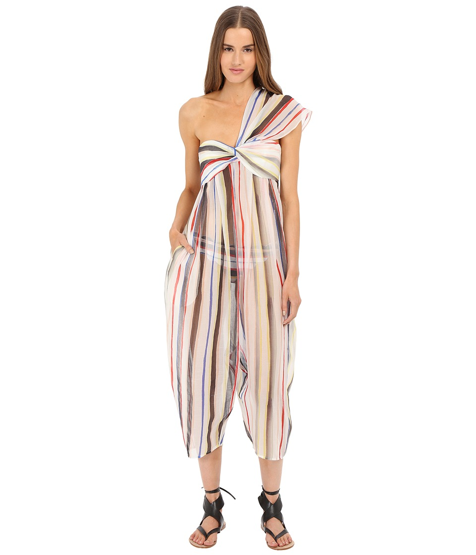 Marysia Venice Jumpsuit Cover Up Sally Light Stripe Womens Jumpsuit Rompers One Piece