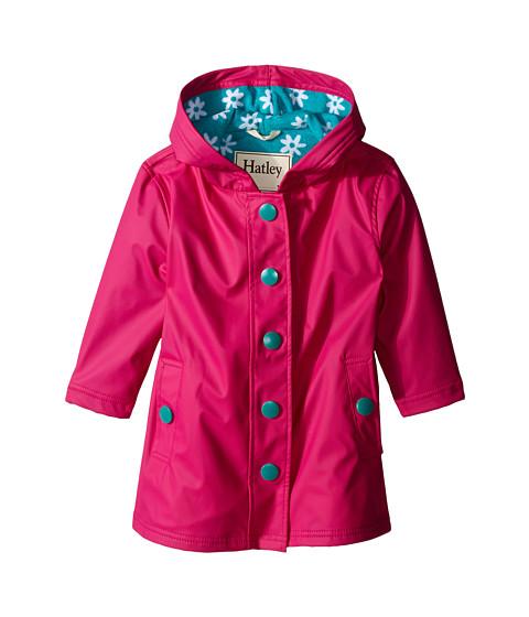 Hatley Kids Fuchsia & Turquoise Daisies Splash Jacket (Toddler/Little Kids/Big Kids)