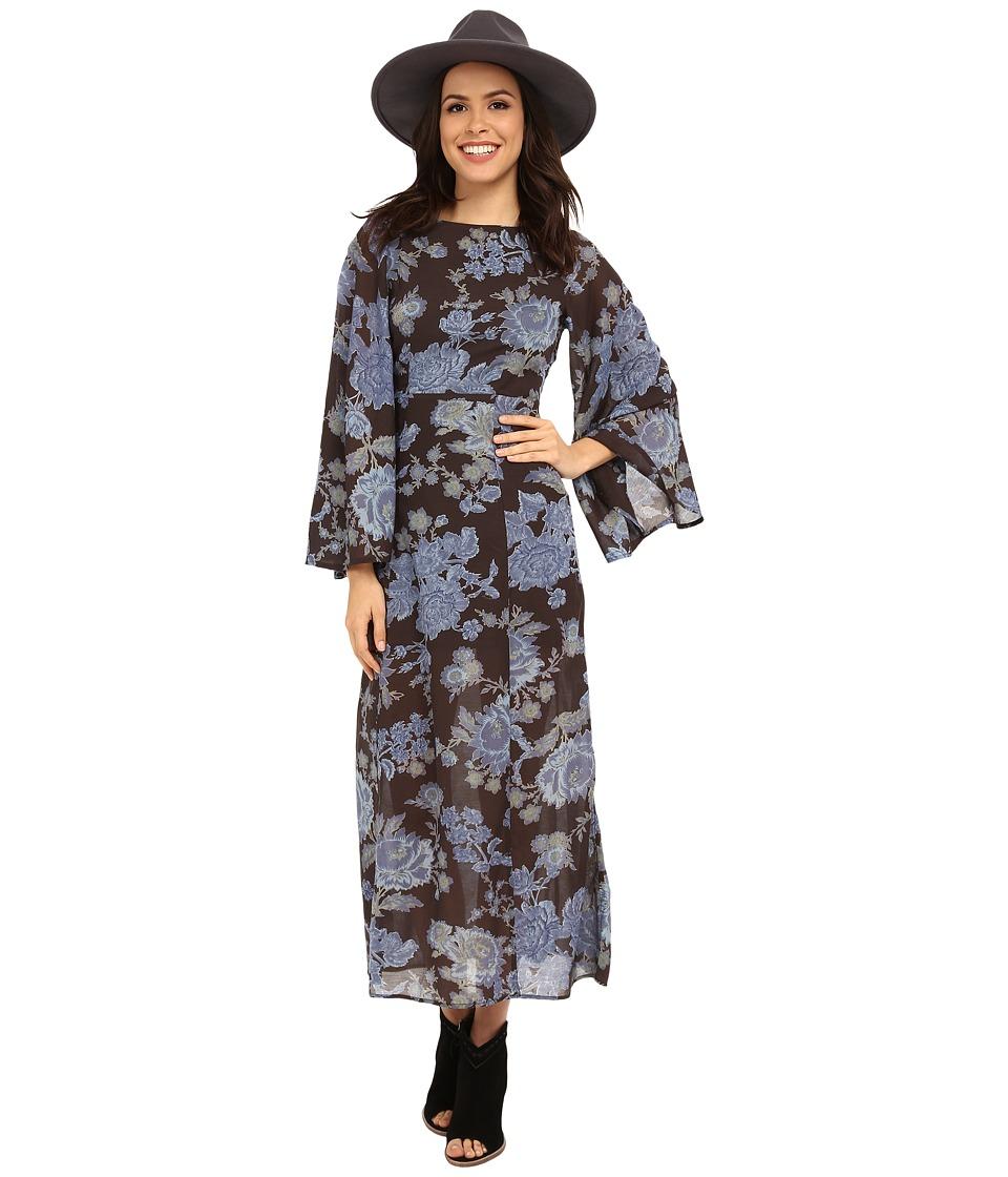 Free People Melrose Printed Dress Night Combo Womens Dress