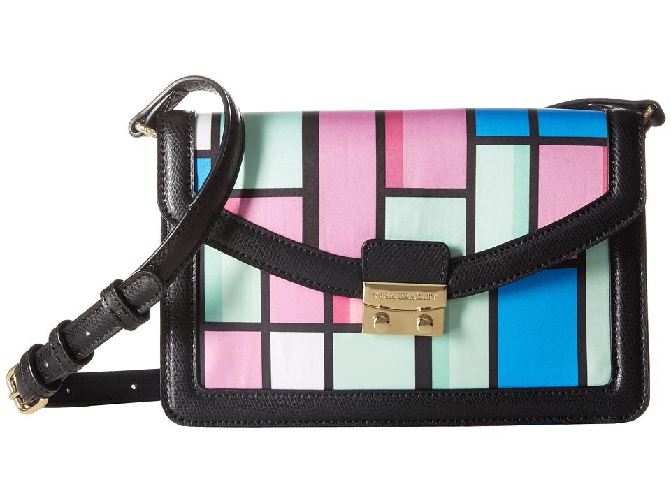 Vera Bradley - Tess Crossbody (Exotic Floral Grid/Black) Cross Body Handbags