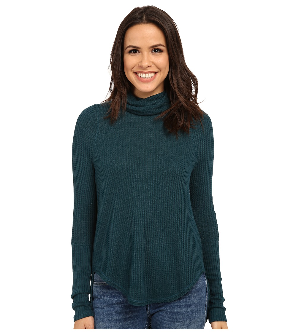 Free People Kristina Thermal Jade Womens Long Sleeve Pullover