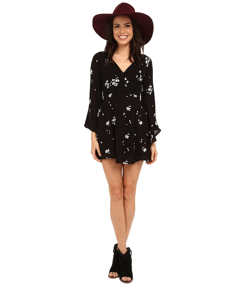 Free People Jasmine Embroidered Dress Storm Combo Womens Dress