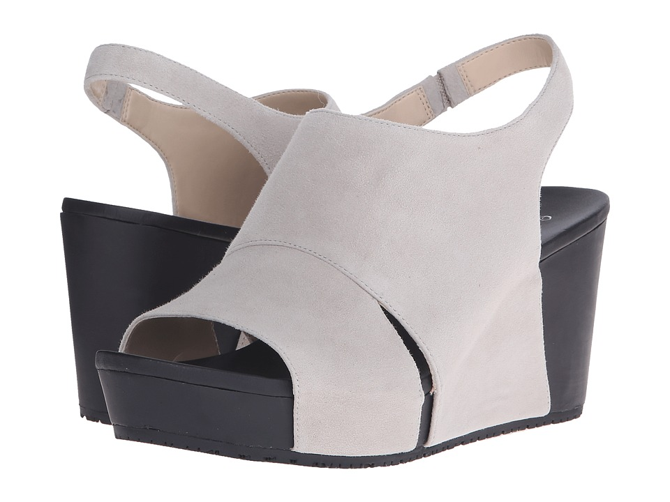 Dr. Scholls Weslyn Original Collection Bone Suede Womens Wedge Shoes