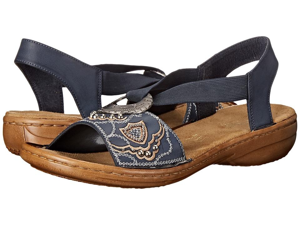 Rieker 608B9 Regina B9 (Jeans) Sandals