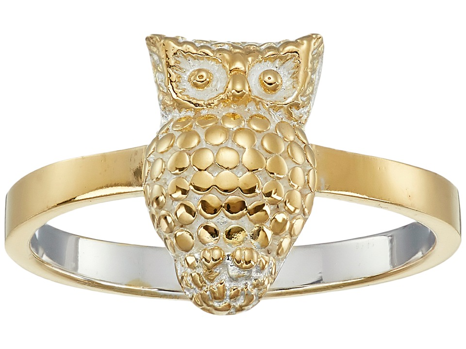 Anna Beck Owl Ring Sterling Silver/18K Gold Vermeil Ring