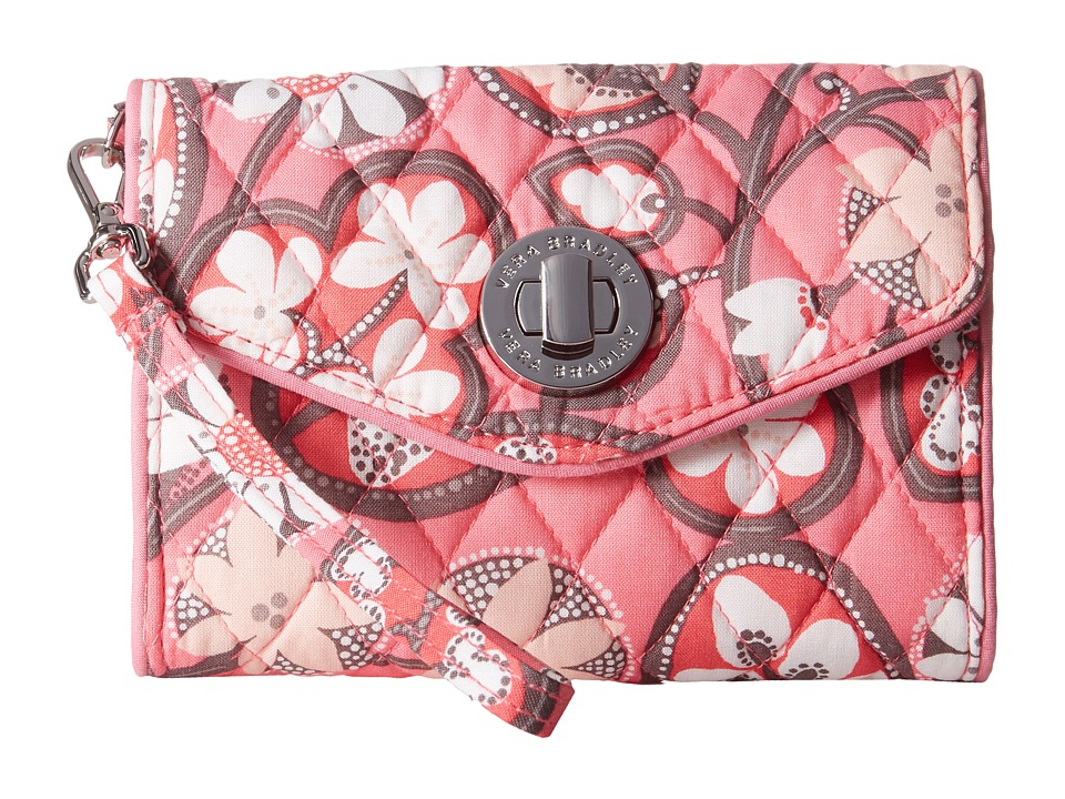 Vera Bradley - Your Turn Smartphone Wristlet (Blush Pink) Wristlet Handbags