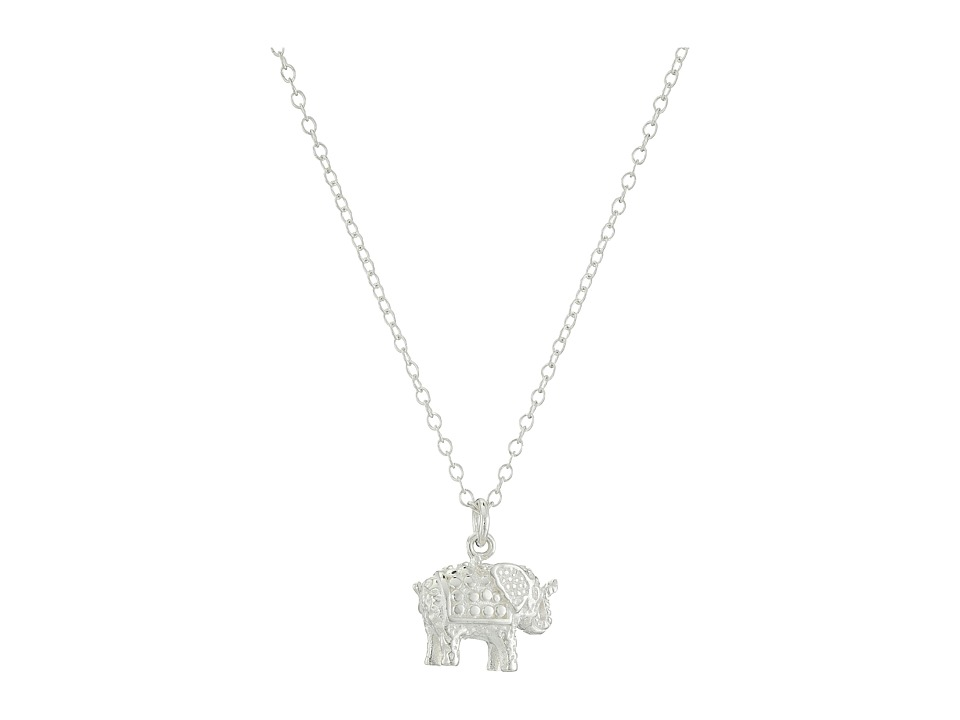 Anna Beck Elephant Mini Necklace 16 18 Sterling Silver Necklace