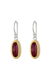 Anna Beck - Ruby Oval Stone Drop Earrings