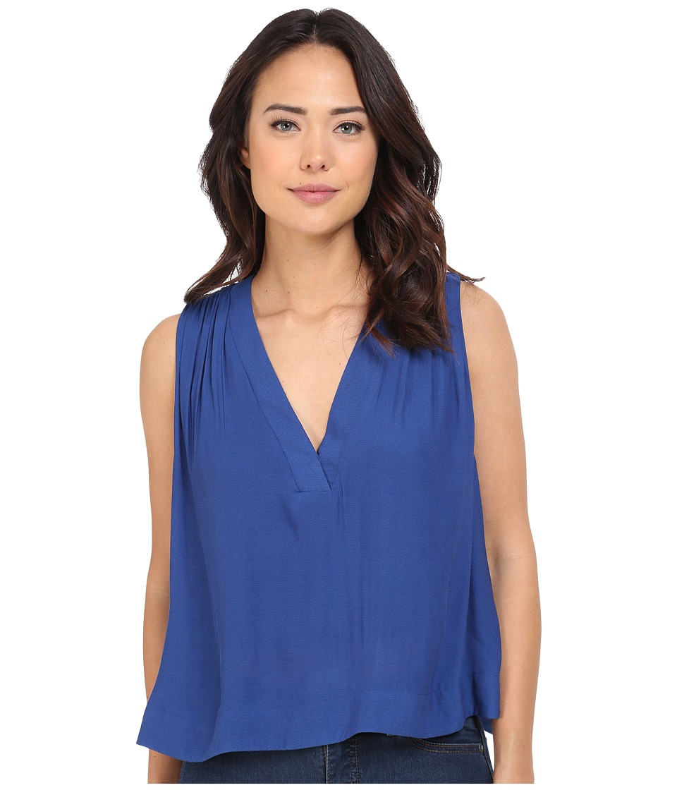 Free People Darcy Cap Tank Top Cobalt Womens Sleeveless